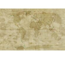 World Map Antique Style Photographic Print