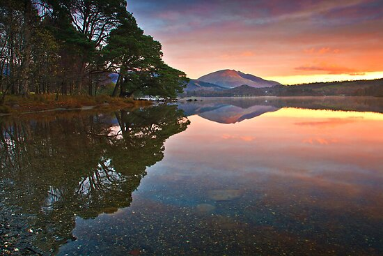 Morning glow over Derwentwater by Shaun Whiteman