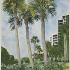 Naples Florida, Palms by Robert Bowden