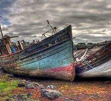 Salen ship wrecks by Peter Davies