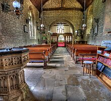 Church interior by Peter Davies