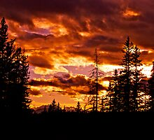 Sunset in Hinton, AB Canada by Jessica Karran