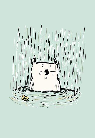 Overwhelmed Cat by Carla Martell