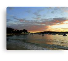 Sunset, Manly, Sydney, NSW, Australia Canvas Print