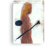 woman and bone Canvas Print