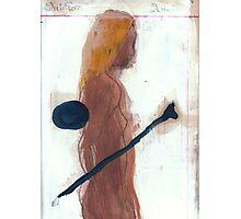 woman and bone Photographic Print