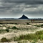 The Mount under a stormy sky by doux-amer