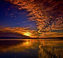 Lake under sky by GeoffSporne