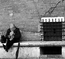 Reading in Siena-Siena, Italy by Deborah Downes