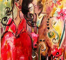 GARDEN PARTY by Barbara Cannon  ART.. AKA Barbieville