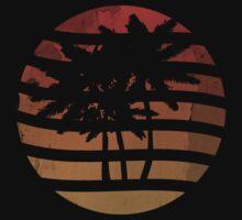 Palm Trees Grunge Sunset by Denis Marsili