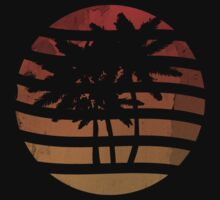 Palm Trees Grunge Sunset by Denis Marsili - DDTK