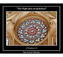 Stained Glass Window at St. Joseph's Cathedral Photographic Print