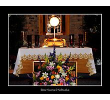 Our Lord in The Eucharist : Easter Photographic Print