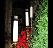 Christmas Candles by Rose Santuci-Sofranko