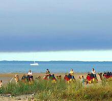 Hervey Bay Camel Caravan  by Virginia McGowan