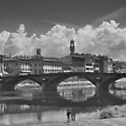 Watching the Arno from the Shore by Marcello Valeri