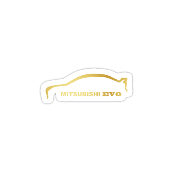 Mitsubishi Lancer Evolution Gold Silhouette Logo by avdesigns