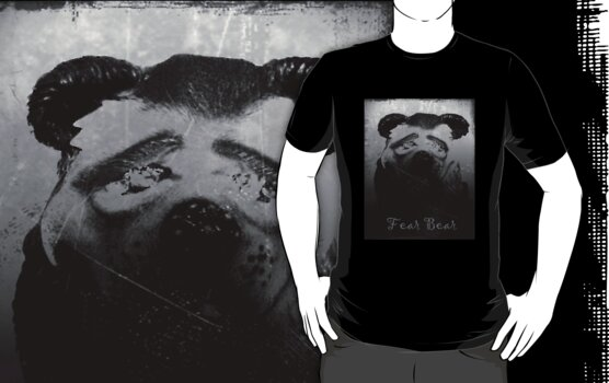 Fear Bear Tee by Margaret Bryant