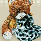 Teddy bear cuddles  by Sarah Trett