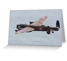 The Lancaster Bomber Greeting Card