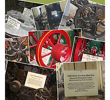 Old Machines from the Falls Grist Mill Museum Photographic Print
