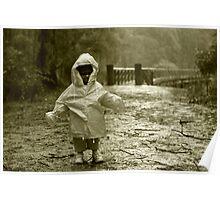 Pouring Down on the Trestle Bridge. Poster