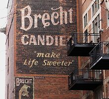 Old Brecht Candies Sign by David Shaw