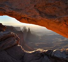 Washer Woman through Mesa Arch by Ian Berry