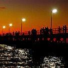 Port Noarlunga Jetty @ night by Ali Brown