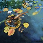 Koi Pond  by Lori Elaine Campbell