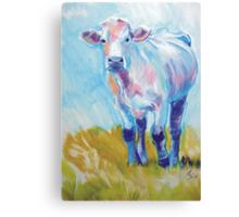 The Luminary - Acrylic Cow Painting Canvas Print