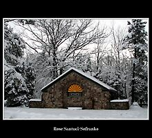 Park Shelter in the snow by Rose Santuci-Sofranko