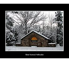Park Shelter in the snow Photographic Print