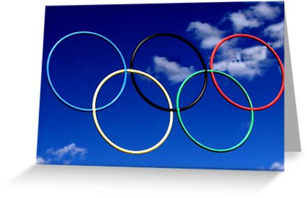 Olympic Rings at Squaw Valley, Ca. by Don Siebel