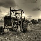 Tractor in mono by Rob Hawkins