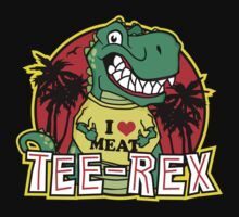 Tee Rex - The T-Shirt Wearing Dinosaur by DetourShirts
