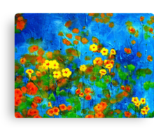 Flowering glade Canvas Print