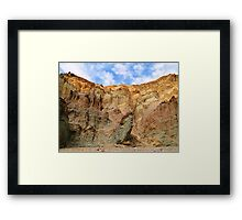 Layered - Golden Canyon - Death Valley Framed Print