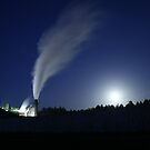 Full Moon at the Factory by FarWest