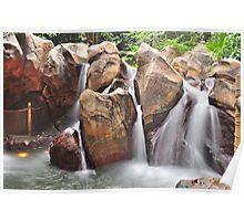 Artificial waterfall - Hong Kong Disneyland Poster