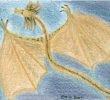Little Golden Dragon - ACEO by elainejhillson