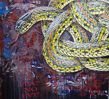Celtic plains garter snake by SnakeArtist
