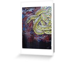Celtic plains garter snake Greeting Card