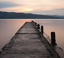 Sunset, Lake Windermere. by Nick Atkin