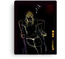 woman seaten V3 Canvas Print