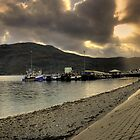 The Sun Permeates the Cloud at Ullapool Harbour by Chris Cherry