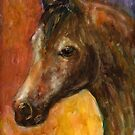 Watercolor Brown Horse painting Svetlana Novikova by Svetlana  Novikova
