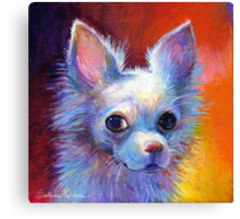Whimsical chihuahua dog painting Svetlana Novikova Canvas Print