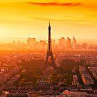 Paris Skyline by tomuhlenberg